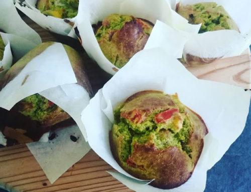 Muffin salati verdi